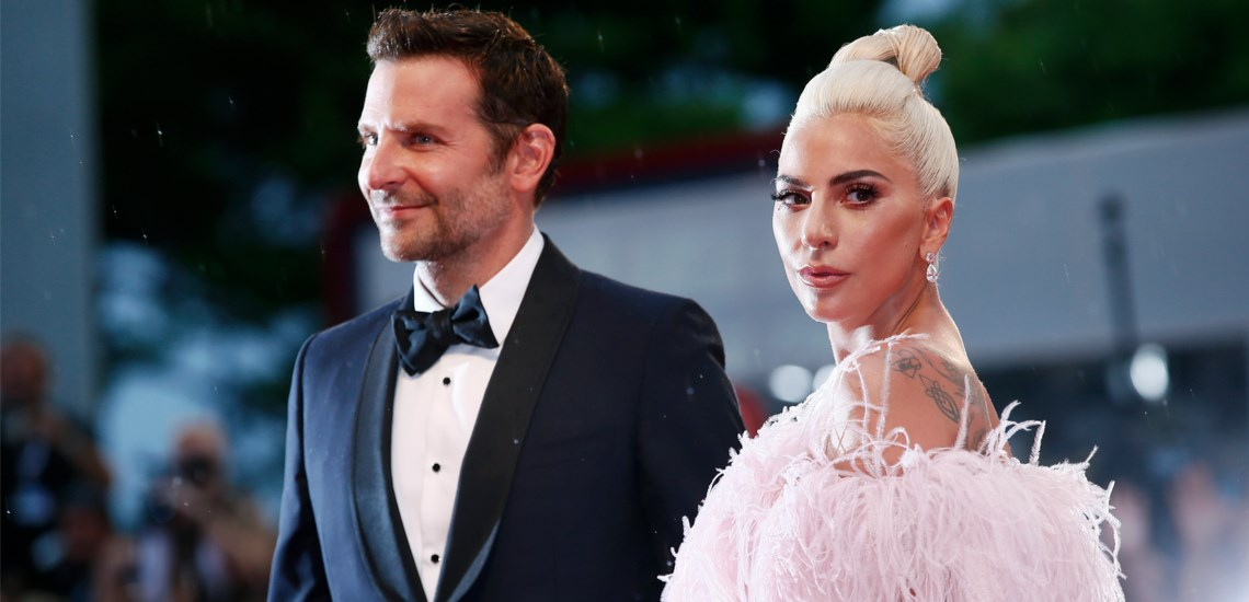 Bradley Cooper and Lady Gaga at the premiere of 'A Star Is Born'